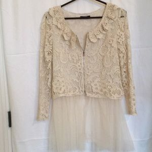 Whimsical lace jacket with tulle bottom
